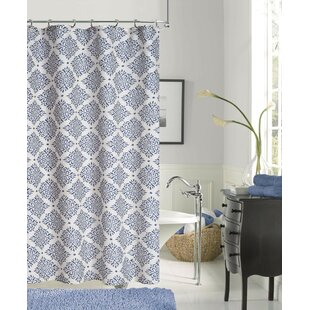 Bargain New Modern Linen Look Printed Shower Curtain ByDainty Home