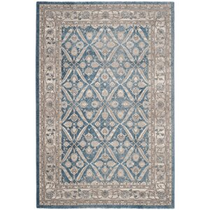 Sofia Power Loom Blue/Beige Area Rug