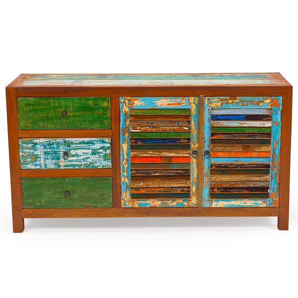 Sea Saw Reclaimed Wood Accent Cabinet by EcoChic Lifestyles