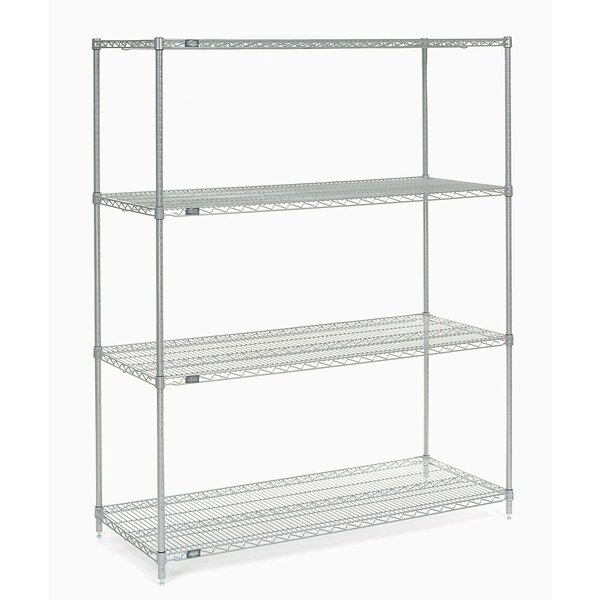 4 Shelf Shelving Unit Starter by Nexel