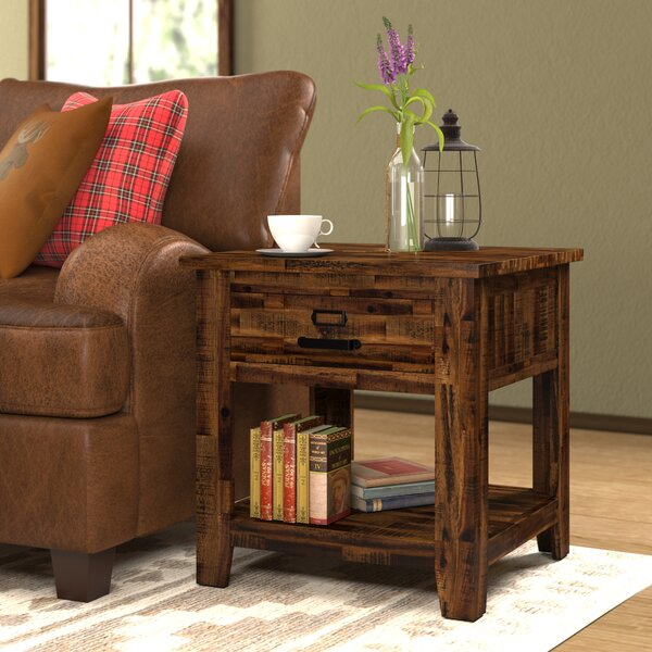 Archstone 4 Legs End Table With Storage By Loon Peak