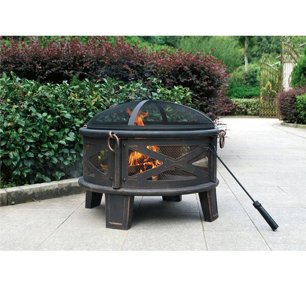 Deep Bowl Steel Fire Pit by Jeco Inc.