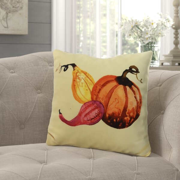 Bigner Gourd Pile Fall Outdoor Throw Pillow by August Grove
