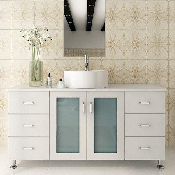 JWH Living Grand Lune Single Bathroom Vanity Reviews Wayfair - 47 bathroom vanity sink cabinet