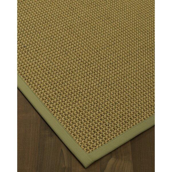 Atia Handmade Flatweave Wool Green/Natural Area Rug