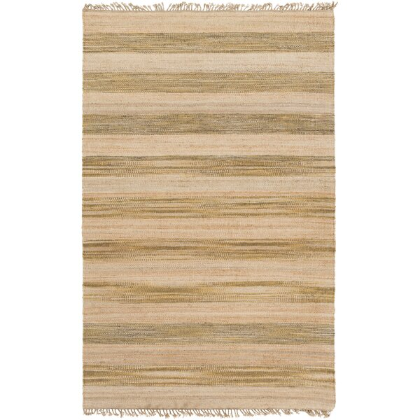 Julia Beige/Gold Area Rug by Gracie Oaks