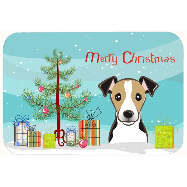 Christmas Tree and Jack Russell Terrier Kitchen/Bath Mat by The Holiday Aisle