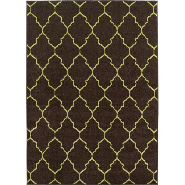 Lifestyles Deco Plaza Chocolate Indoor/Outdoor Area Rug by Mayberry Rug