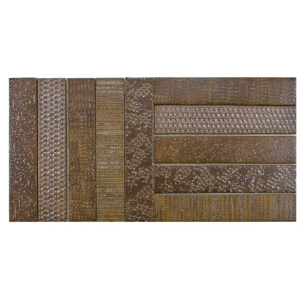 Loggo 2 x 10 Porcelain Mosaic Tile in Brown by EliteTile