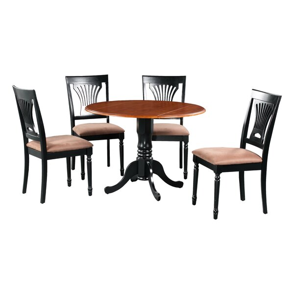 Shorewood 5 Piece Drop Leaf Solid Wood Dining Set by August Grove