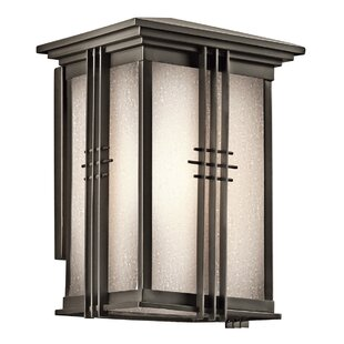 Price comparison East Adams 1-Light Outdoor Wall Lantern By Loon Peak