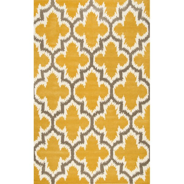 Eichmann Hand-Tufted Wool Yellow Area Rug by nuLOOM