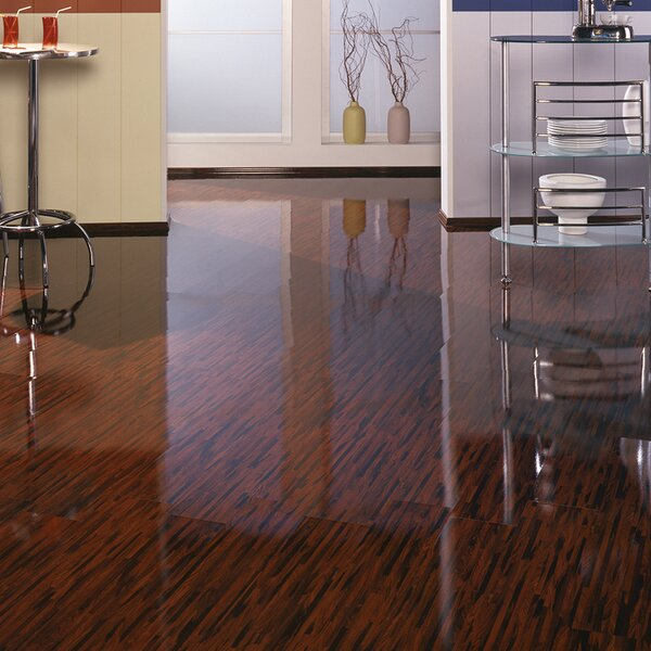 7 x 47 x 7mm Pearwood Laminate Flooring in Brown by ELESGO Floor USA