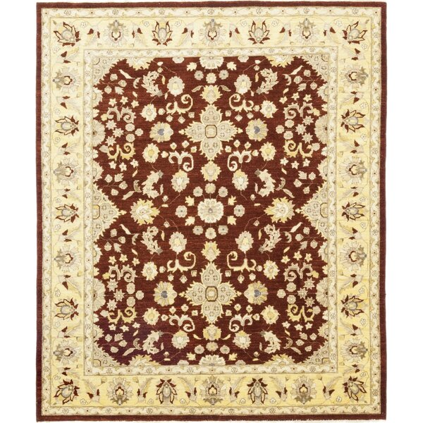 One-of-a-Kind Corrado Hand-Knotted Wool Brown/Beige Indoor Area Rug by Astoria Grand