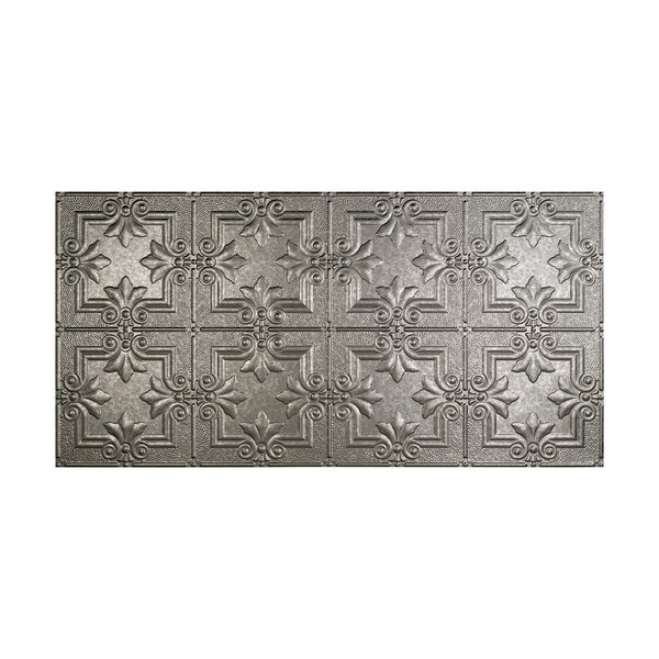 Regalia 2 ft. x 4 ft. Glue-Up Ceiling Tile in Galvanized Steel by Fasade