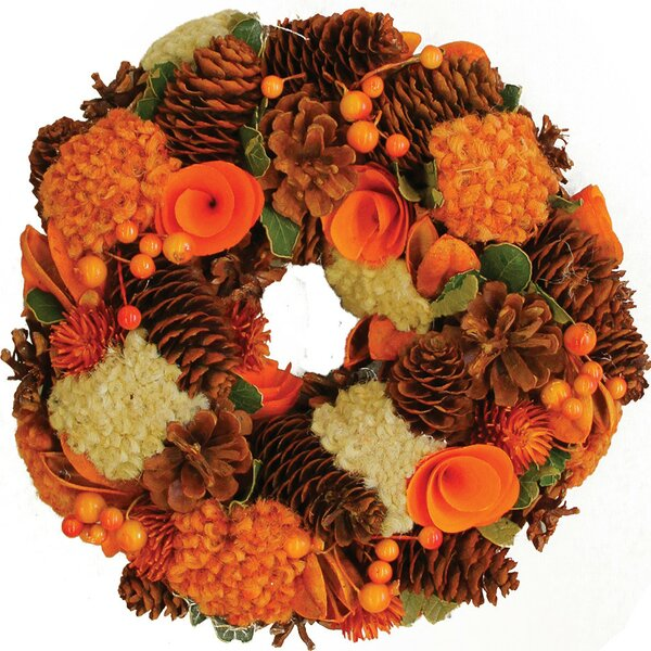 Hydrangea and Berry Harvest Artificial Floral Wreath by Northlight Seasonal