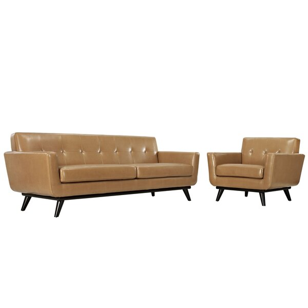 Saginaw Leather 2 Piece Living Room Set by Corrigan Studio