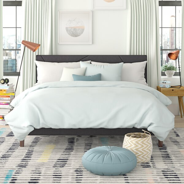 Bartley Geometric Platformed Upholstered Platform Bed by Trule Teen