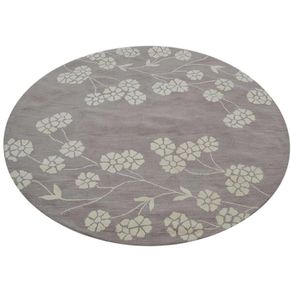 Creager Hand-Tufted Wool Gray/Beige Area Rug by Winston Porter