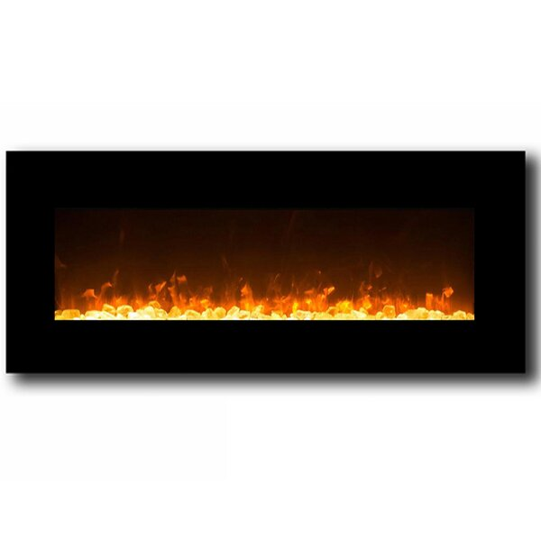 Solon Wall Mounted Electric Fireplace by Wrought Studio