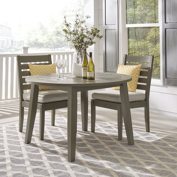 Hursey Wooden Dining Table by Three Posts