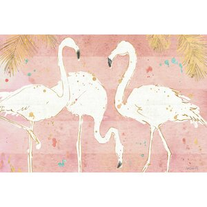 Flamingo Fever IV Painting Print on Wrapped Canvas by Mercer41