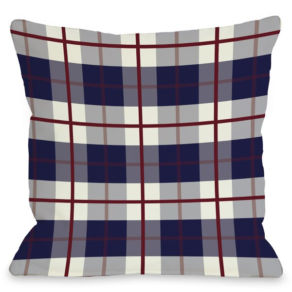 American Plaid Throw Pillow by One Bella Casa