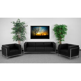 Aarsh 3 Piece Faux Leather Living Room Set by Orren Ellis