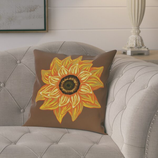 Kindel Flower Print Outdoor Throw Pillow by August Grove