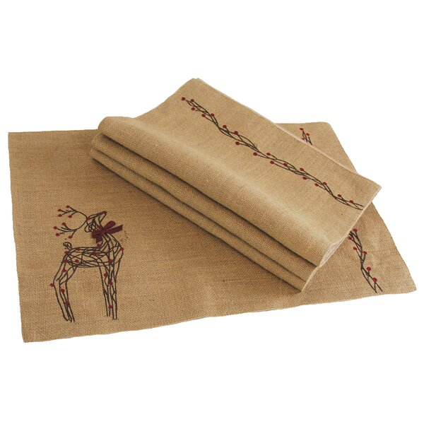 Uncompahgre Jute Christmas Placemat (Set of 4) by Loon Peak