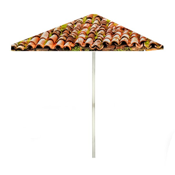 Italian Villa 6' Rectangular Market Umbrella by Best of Times Best of Times
