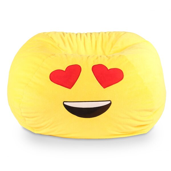 GoMoji Emoji Heart Eyes Bean Bag Chair by Ace Casual Furniture™