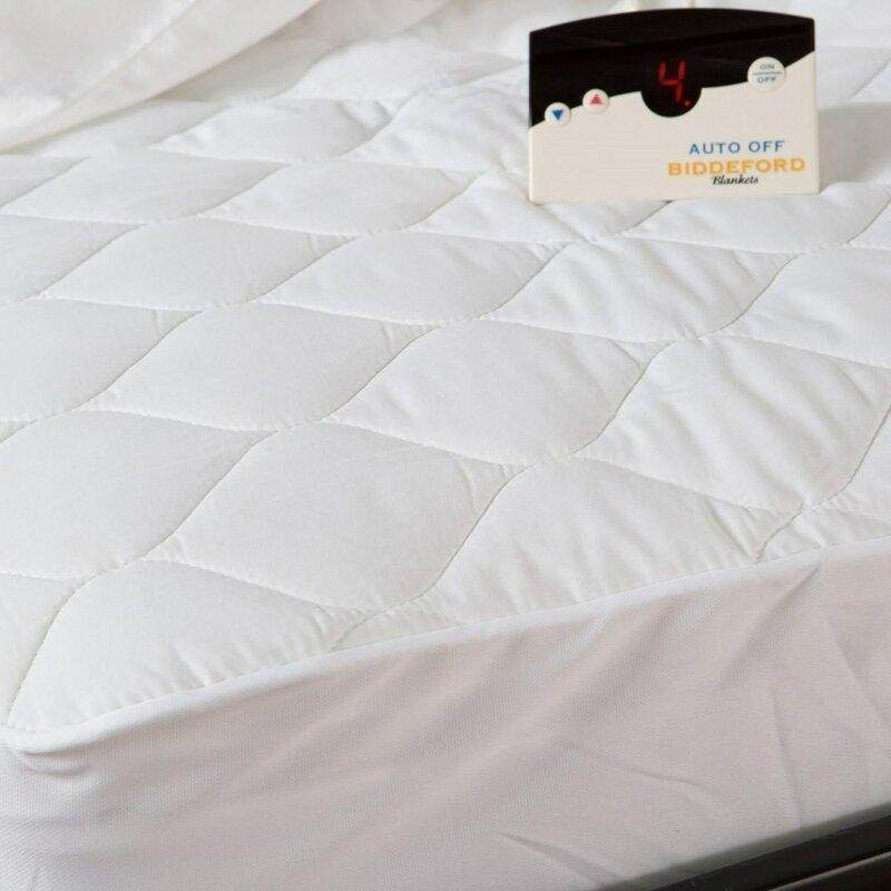 Biddeford Blankets Pure Warmth 5202 5051rm 100 Electric Heated Mattress Pad Queen Wayfair