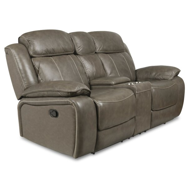 Principato Dual Leather Reclining Loveseat by Red Barrel Studio