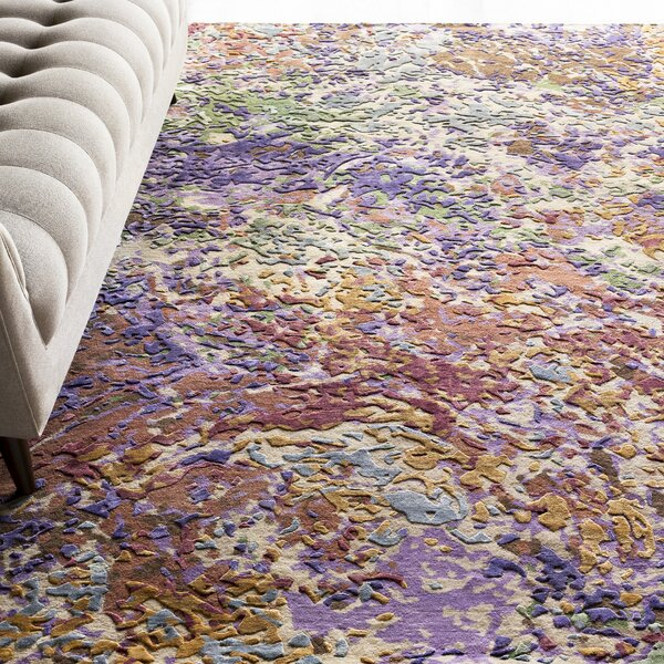 Bovill Lavender/Mocha Area Rug by Bungalow Rose
