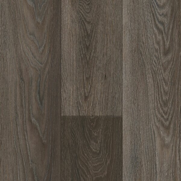 Luxe Rigid Core Castletown 7 x 48 x 7.88mm Oak WPC Luxury Vinyl Plank in Carbonized Gray by Armstrong Flooring