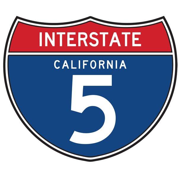 Fun Time Shape Freeway 5 Sign Kids Rug by Fun Rugs