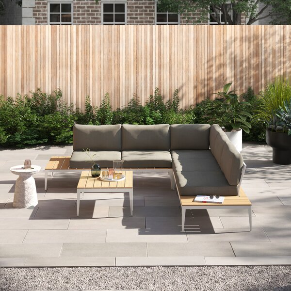 Will 4 Piece Sectional Seating Group with Cushions by Foundstone