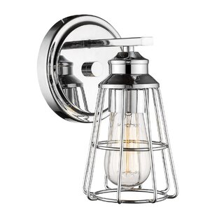 Clearance Silas 1-Light Bath Sconce By Breakwater Bay