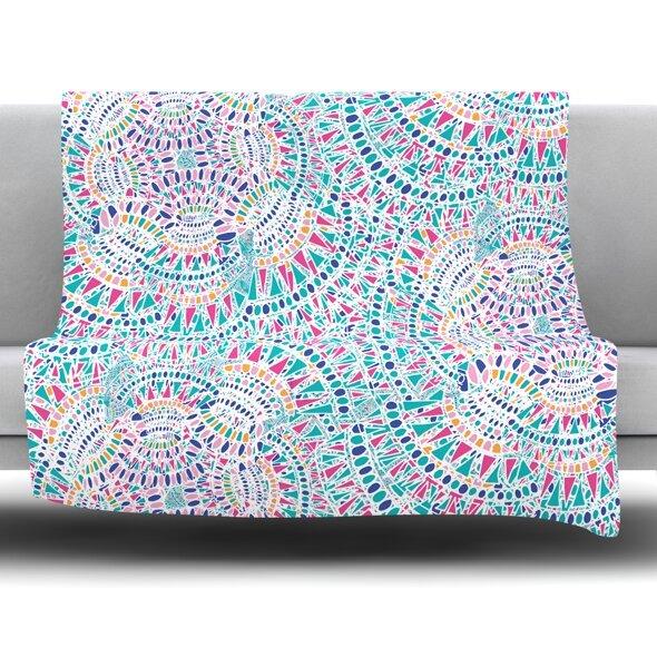 Kaleidoscopic by Miranda Mol 60 Fleece Blanket by East Urban Home