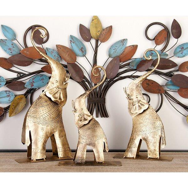 3 Piece Elephant Figurine Set by Cole & Grey