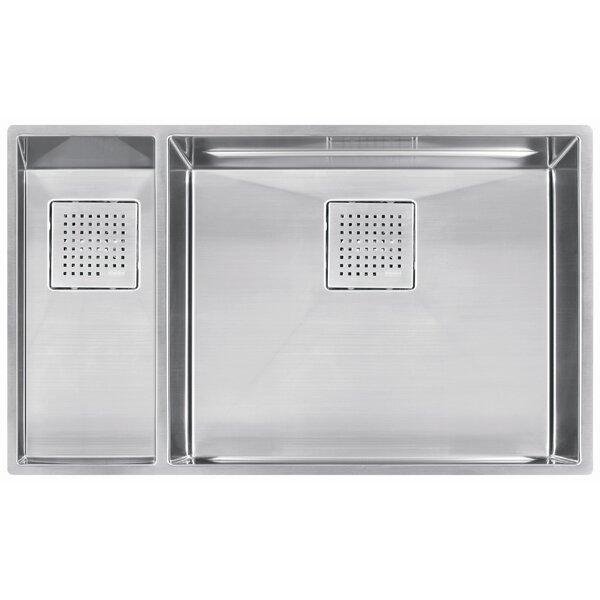 Peak 31.13 L x 17.75 W Double Bowl Kitchen Sink by Franke