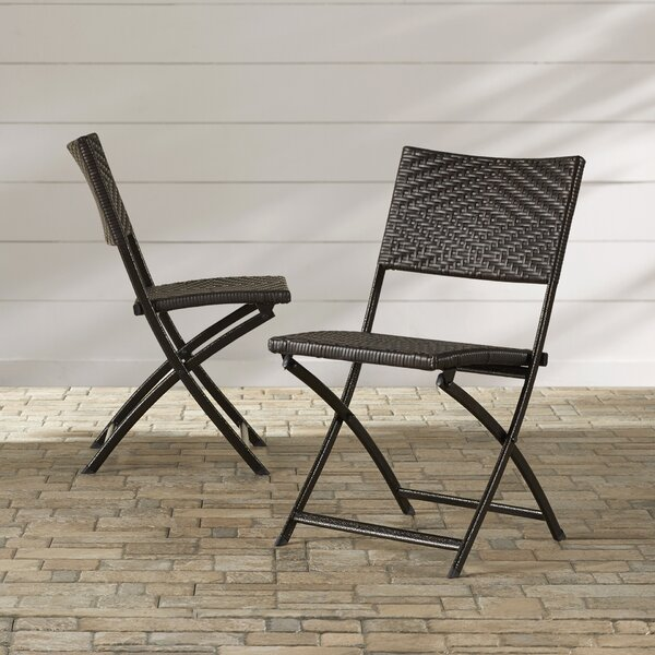 Rayes Folding Patio Dining Chair (Set of 2) by Mer