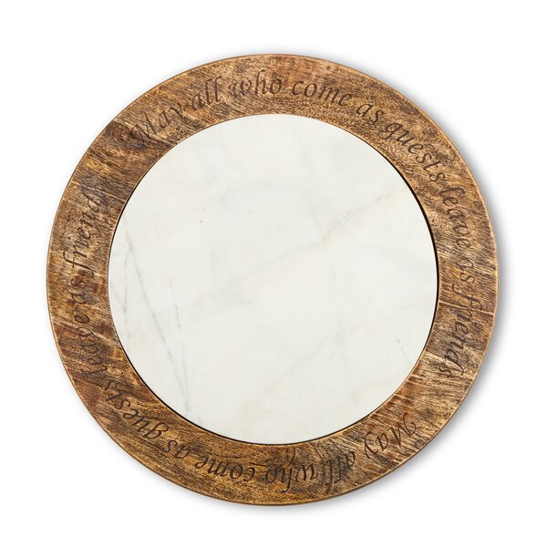 Antiquity Marble Wood Lazy Susan by The GG Collection