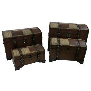 Viaan Faux Leather Indoor Storage Trunks (Set Of 4)