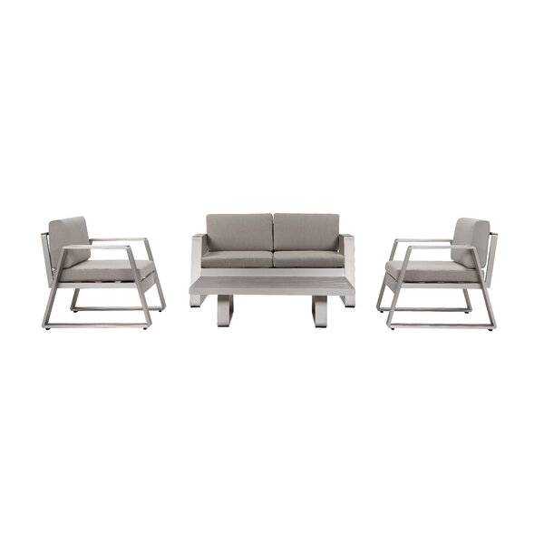 Joulane 4 Piece Sofa Seating Group with Cushion (Set of 4) by Wrought Studio