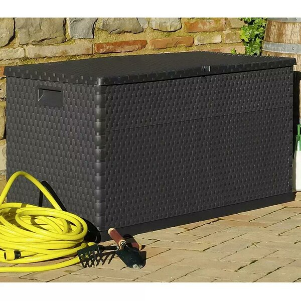 Feltner 111 Gallon Plastic Deck Box by Highland Dunes Highland Dunes