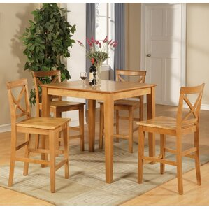 Mathys 5 Piece Counter Height Pub Table Set by One Allium Way