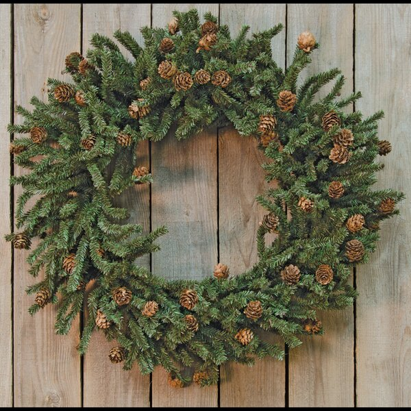24 Pine Cones Wreath by The Holiday Aisle