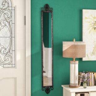 One Allium Way Vertical Rectangular Metal Narrow Accent Mirror